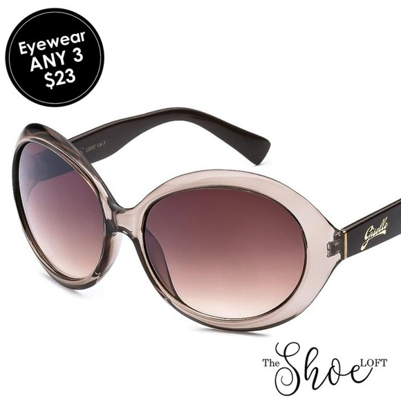 Giselle Gray Frame Rounded Cat Eye Sunglasses